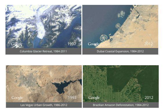 Timelapse : le réchauffement climatique pris sur le vif
