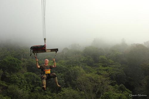 Des chercheurs volants dans la canopée guyanaise