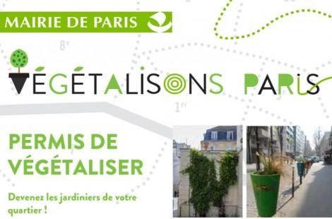 La Mairie de Paris et en place un permis de végétaliser