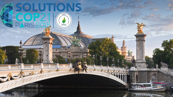 Ouverture de Solutions COP21 au Grand Palais