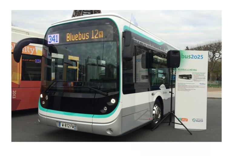 inauguration de l'usine de production du bluebus de 12m pour RATP