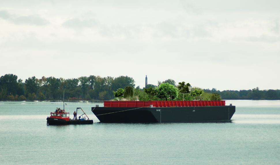 Un potager flottant en libre service à New-York