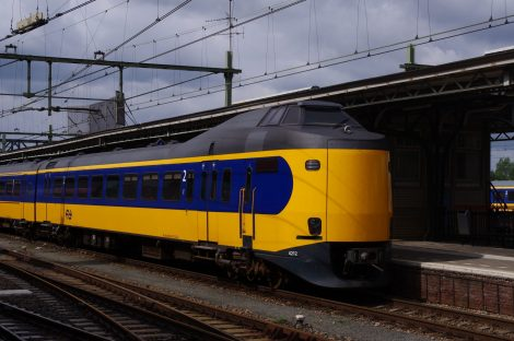 Rail train Pays Bas, circulant énergie éolienne