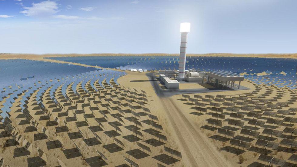 La gigantestque centre solaire Ashalim en Israël