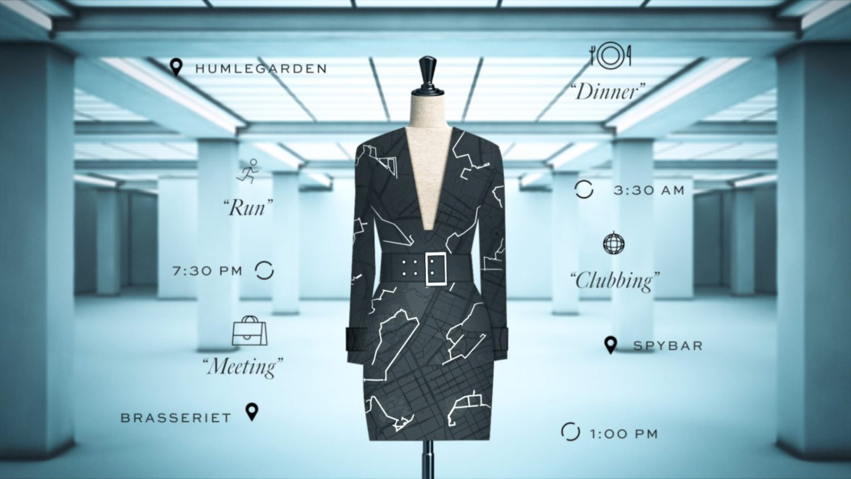 une robe créée à partir de vos données