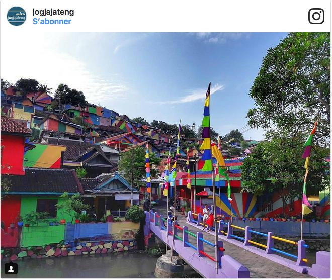bidonville indonésien coloré