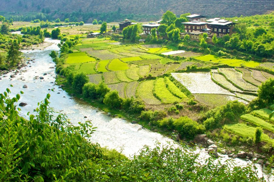 Vallée de Paro au Bhoutan