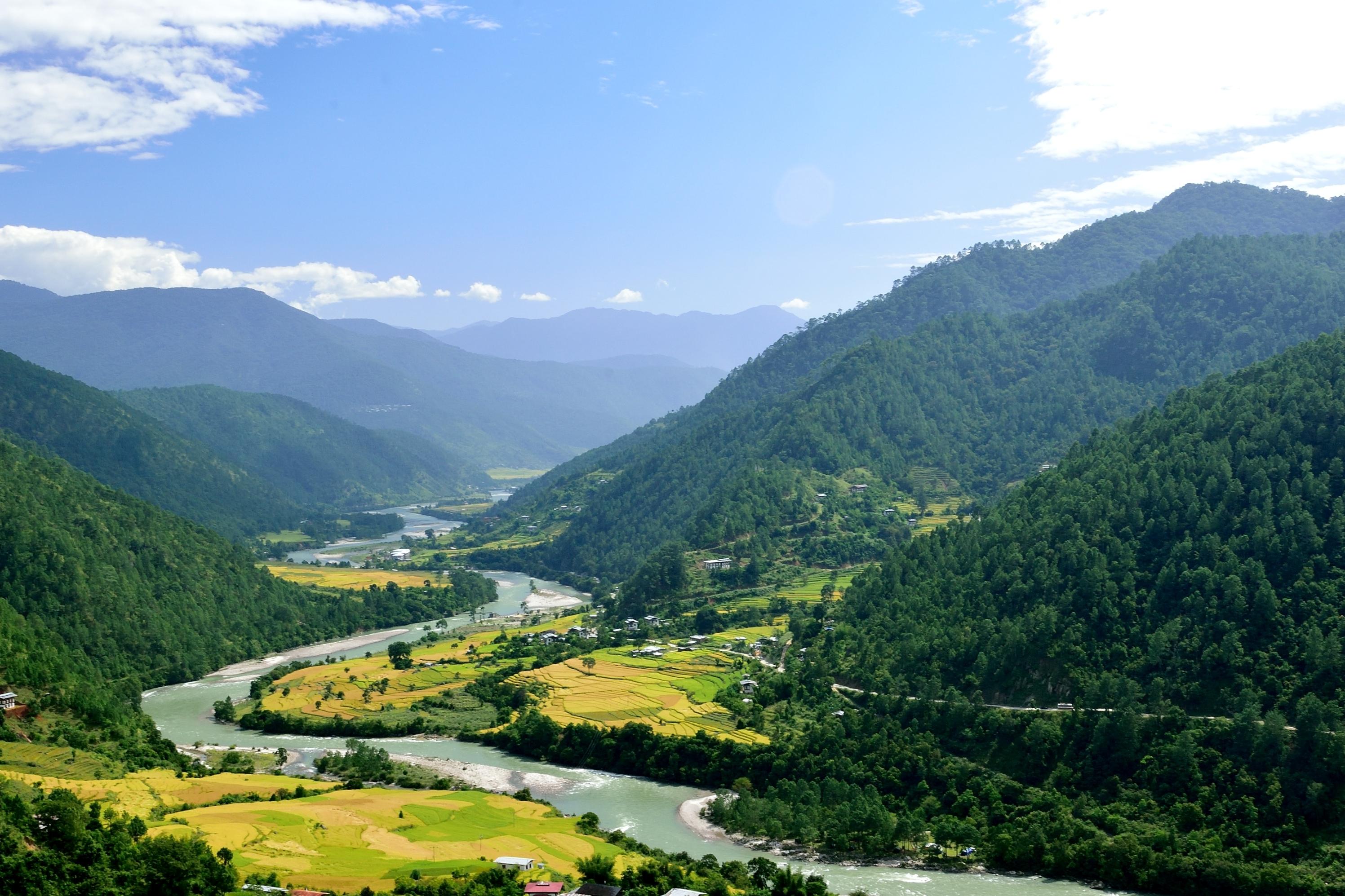 Vallée de Punakha Bhoutan