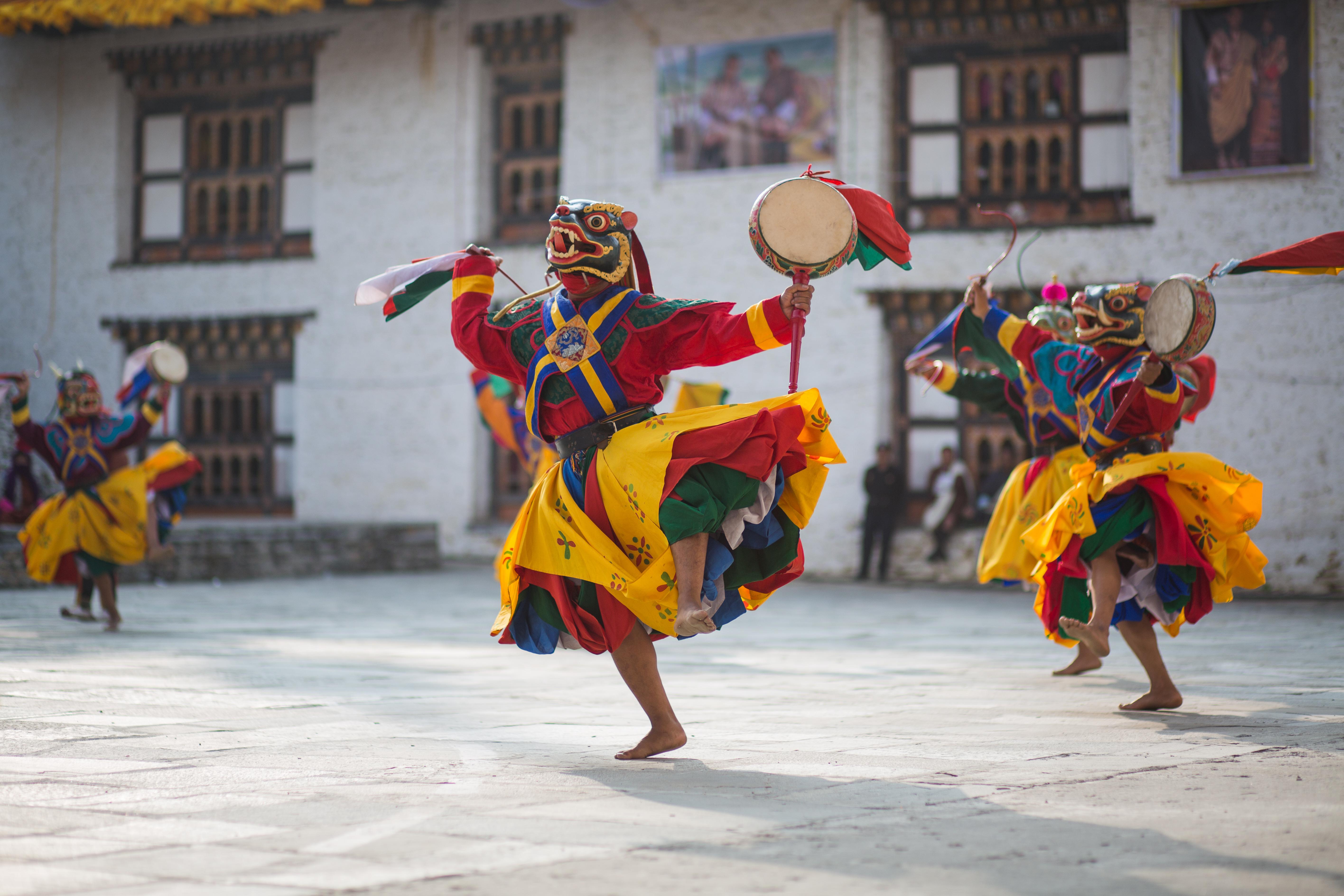 danse traditionnelle bhoutanaise à Mongar