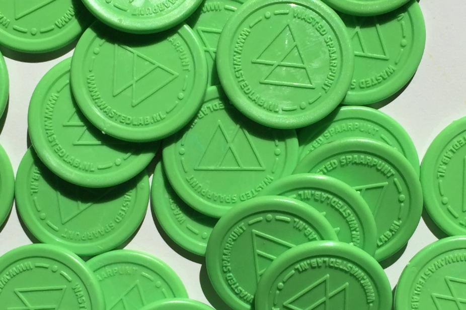 monnaie plastique pour recyclage des déchets