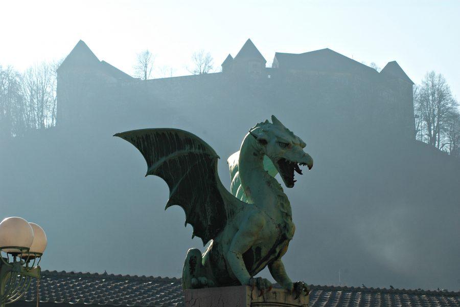 Pont des dragons à lubiana Slovénie