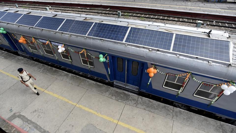 train solaire en Inde