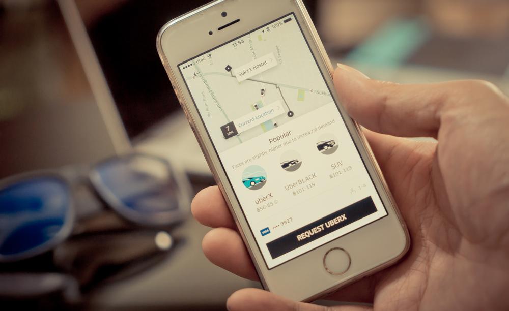 Appli Uber pour les transports en commun
