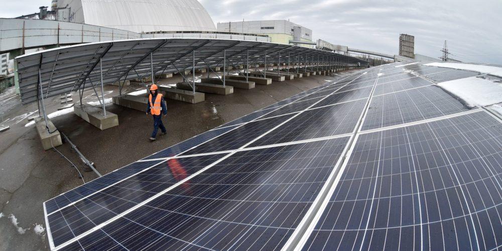 Tchernobyl devient une centrale solaire