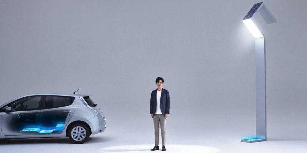 De batterie de voiture à éclairage urbain