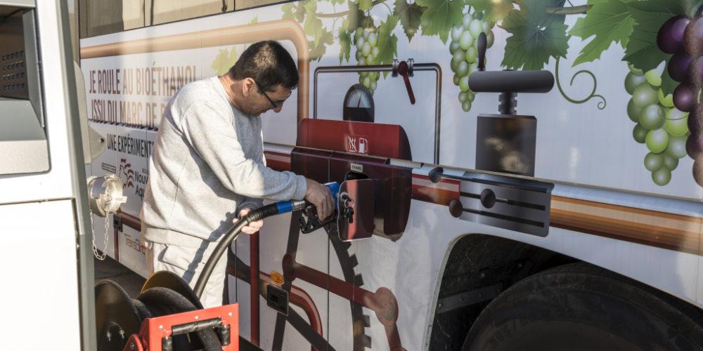 Landes : ce bus carbure au raisin