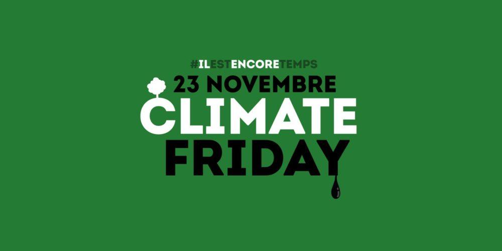 Un Climate Friday pour remettre le climat au coeur de la consommation