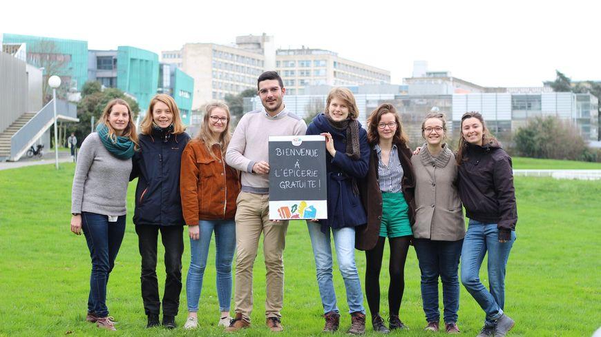 Une épicerie gratuite à l'université de Rennes