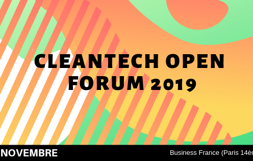 CleanTech Open France lance son forum 2019