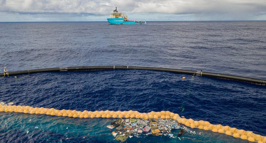 Le barrage d'Ocean Cleanup a ramassé ses premiers déchets dans le Pacifique
