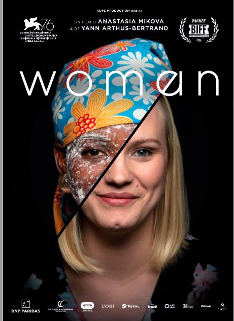 Woman, documentaire de 1H48, réalisé par Anastasia Mikova, Yann Arthus-Bertrand. Sortie prévue le 4 mars 2020.