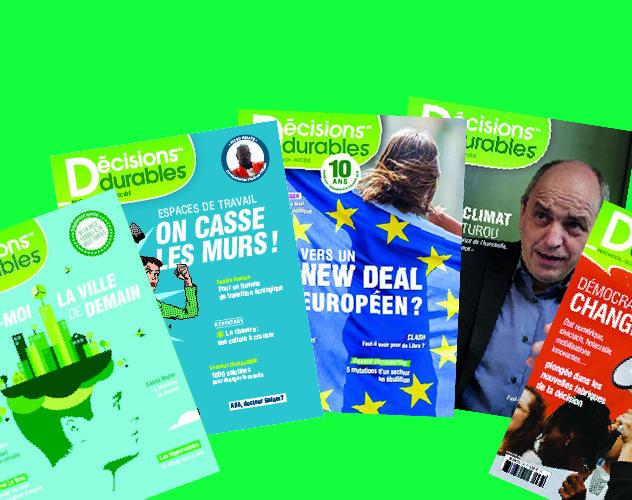 Décisions durables met en ligne gratuitement ses 6 derniers numéros