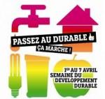 10e édition de la semaine du développement durable du 1er au 7 avril